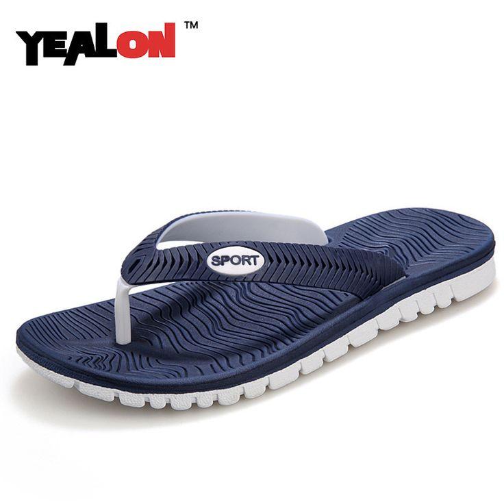 YEALON New 2016 Summer Men Sandals, High-quality Soft Beach Flip Flops EVA Massage Slippers For Men's sandals Size:40-45 #hats, #watches, #belts, #fashion, #style