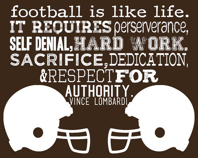 More Than Sayings: Football is like life