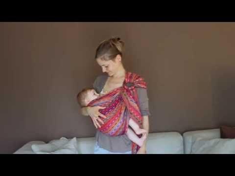 Portage et allaitement, plusieurs positions. - YouTube