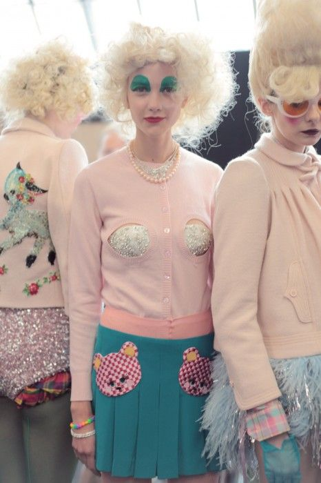 Backstage Meadham Kirchhoff SS2012 show  Photo by Eleanor Hardwick
