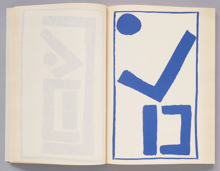 """A.R. Penck (Ralf Winkler). Standarts. 1970. Artist's book. Page: 11 7/16 x 7 11/16"""" (29 x 19.5 cm). Purchase. 24.1982. © 2016 A.R. Penck. Drawings and Prints"""