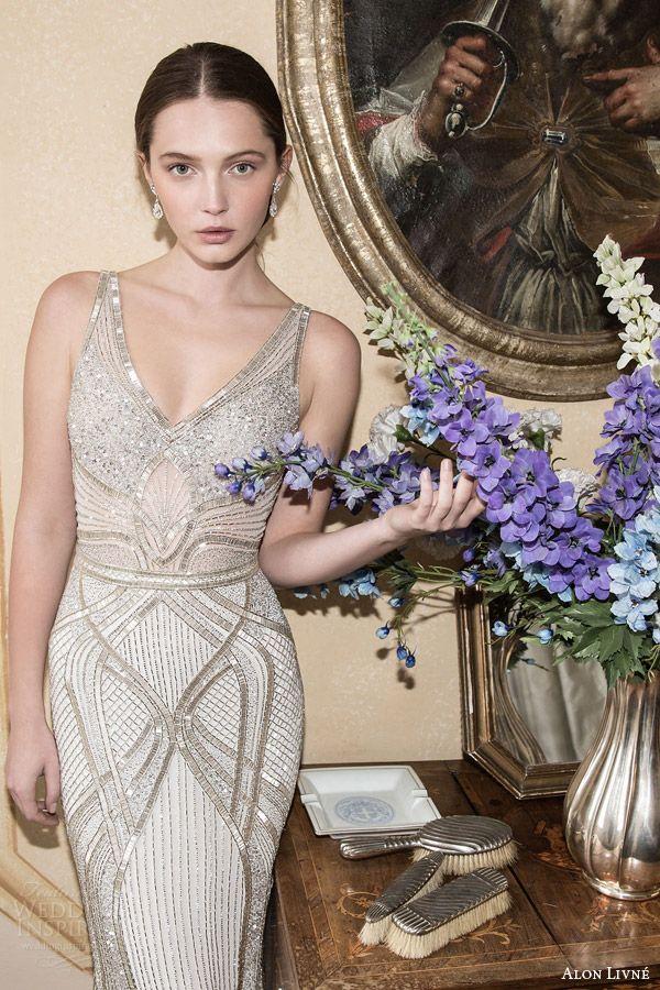 alon livne white 2015 bridal couture collection art deco wedding