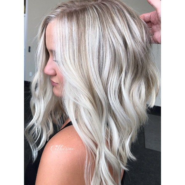 Iced Champagne Blonde Champagne Blonde Ice Blonde Hair Low Lights Hair