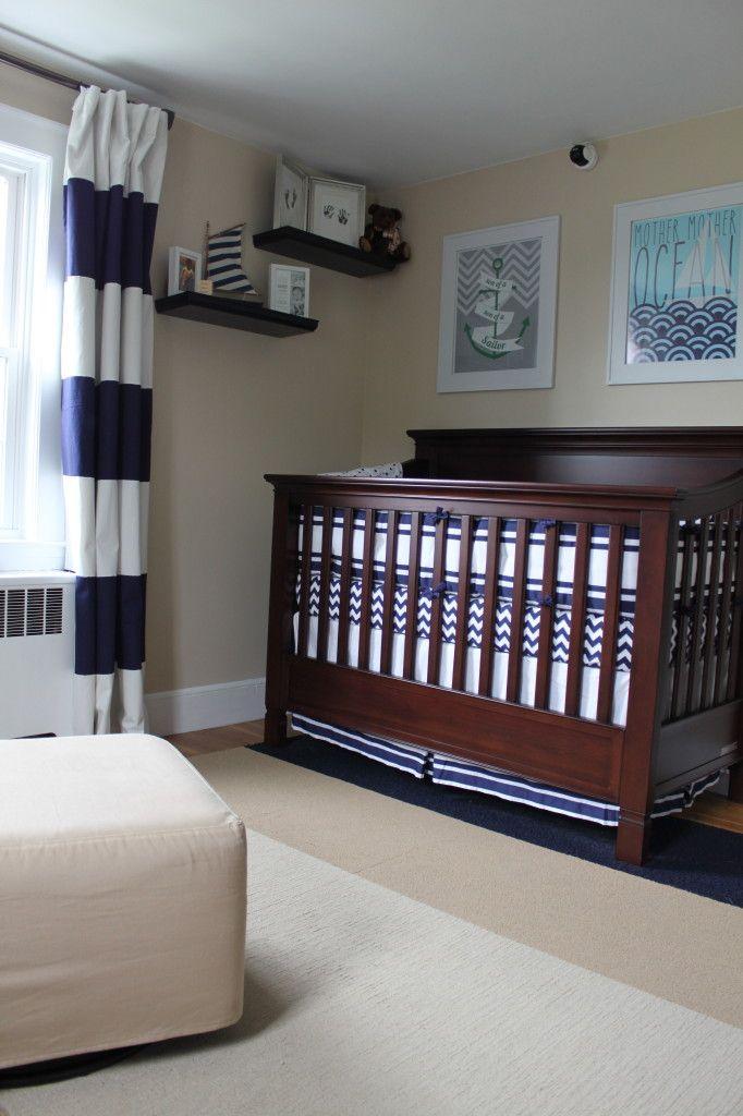 Boy Nautical Nursery Crib View