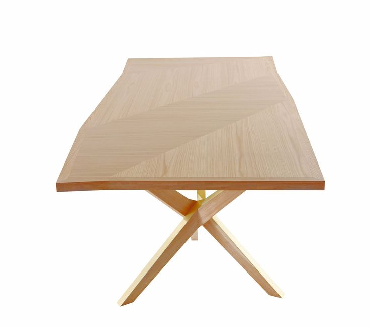 Table rectangulaire en bois jane by roche bobois design christophe delcourt - Prix table basse roche bobois ...