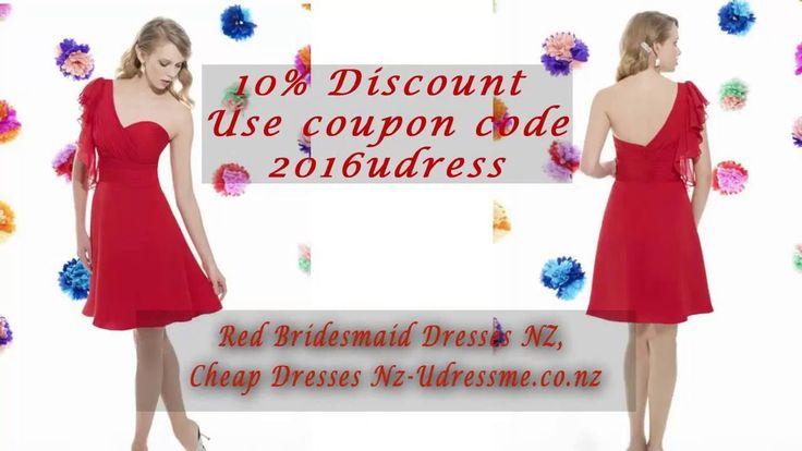 Red Bridesmaid Dresses NZ, Cheap Dresses NZ - Udressme co nz