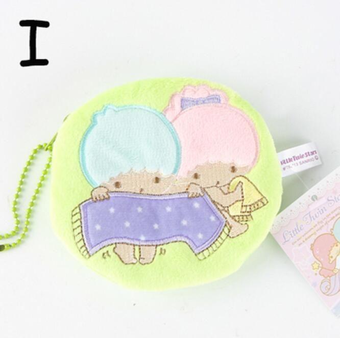 Little Twin Stars Washing Plush Handbag Coin Bag Money Bags Zip Ornament