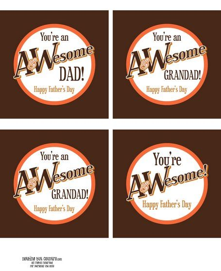 Put these on A root beer for dad - free father's day printables