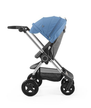 A compact, lightweight city stroller from Stokke. Sturdy, with a smooth rid, it is ideal for travel, navigating busy streets and public transit. Easy to fold.