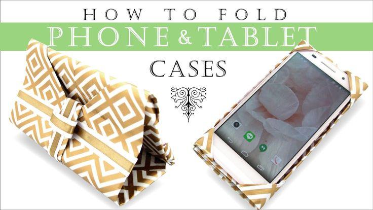 スマホ タブレット ケースの作り方 [折るだけ簡単] Phone & Tablet Case DIY [Origami]