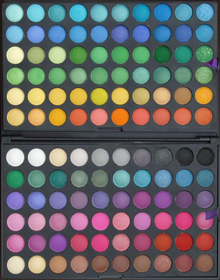 Trusa de farduri cu 120 de culori mate si sidefate disponibila pe www.paletutze.ro