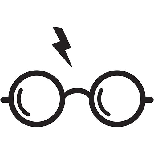 Harry Potter Glasses Laptop Car Truck Vinyl Decal Window Sticker PV458