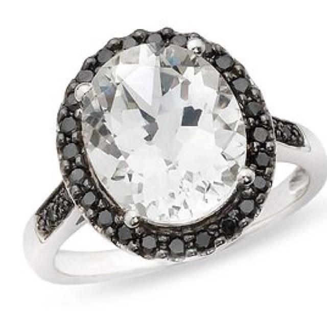 Black diamond ring. Gorgeous