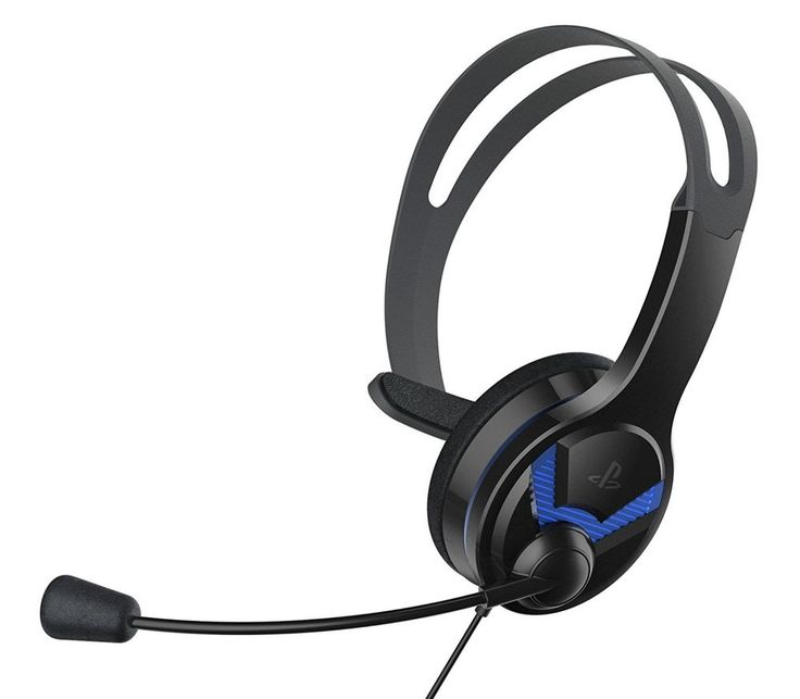 PS4 WIRED CHAT HEADSET OFFICIA. Fully compatible with PS4TM chat enabled games. Traditional overhead design with boom microphone and padded on-ear speaker. Easy to use mute control. | eBay!