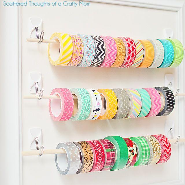 HOME & GARDEN: 50 astuces pour tout ranger avec des crochets adhésifs !
