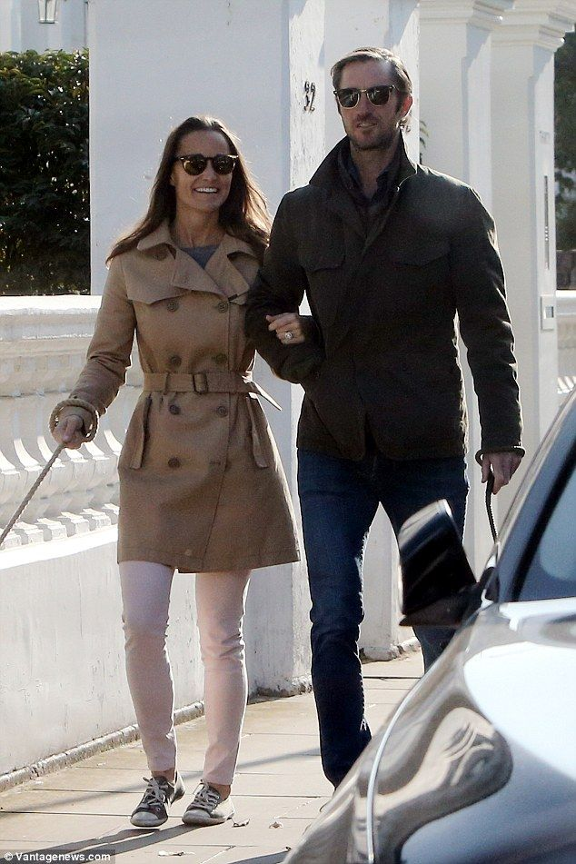 It's three months since Pippa and James got engaged but their happy faces suggested that the glow of excitement has not worn off