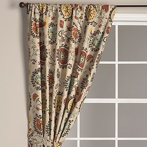 Suzani Print Curtain Panel