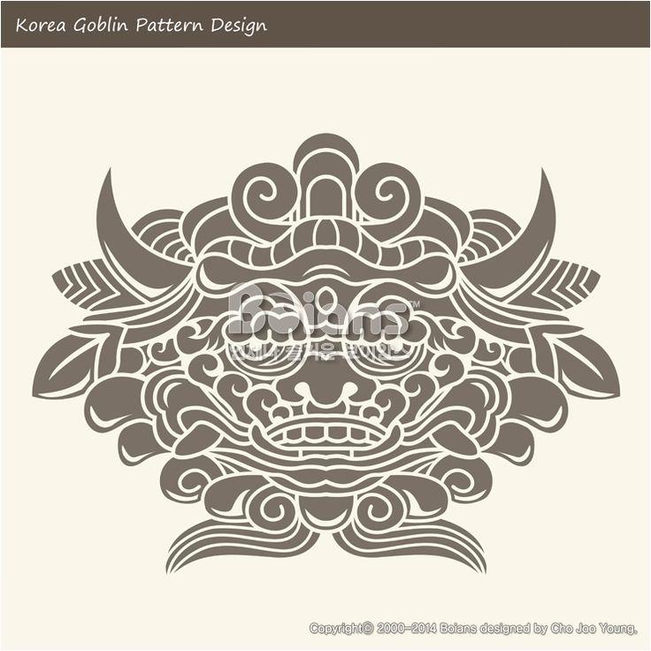 한국의 도깨비 문양 패턴디자인. 한국 전통문양 패턴 디자인 시리즈. (BPTD010018) Korea Goblin Pattern Design. Korean traditional Design Series. Copyrightⓒ2000-2014 Boians.com designed by Cho Joo Young.