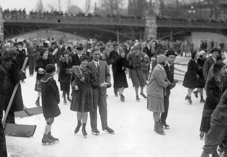 Ice skating in Budapest ca. 1930