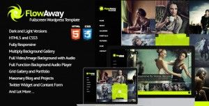 FlowAway WP Fullscreen Video/Image with Audio WordPress Theme