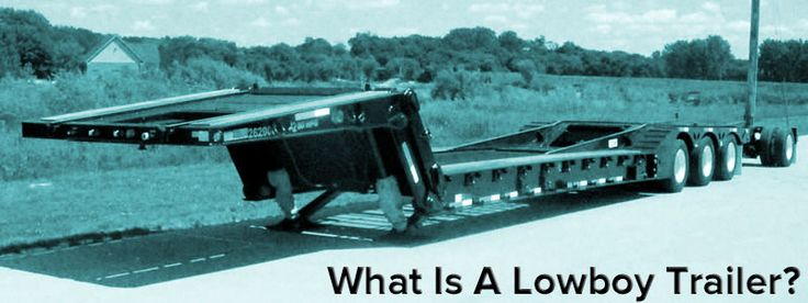 Lowboy Trailers: First lowboy trailer included a riveted gooseneck. First detachable gooseneck trailer called an RGN (Removable goose neck)..
