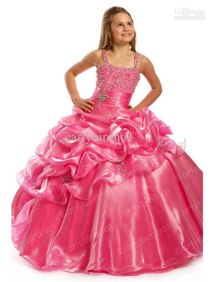 Wholesale Pageant Dresses - Buy 2013 Children's Pageant Dresses Spaghetti Bead Organza Princess Ball Gown Flower Girl Dress FA256, $89.9   DHgate