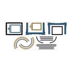 IKEA - KLÄTTA, Zelfklevende decoratie, Motief van Joni Whyte.Hiermee kan je je favoriete foto's inlijsten zonder dat je gaten in de muur hoeft te boren.Je kan je eigen lijsten vormgeven, omdat je er met krijt op kan tekenen of schrijven.Met zelfklevende decoraties vernieuw je gemakkelijk een kamer zonder dat je hoeft te schilderen of te behangen.