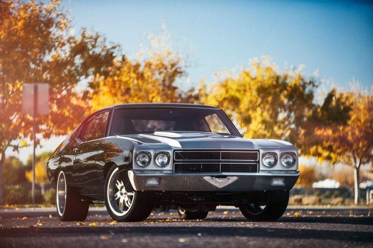 1970 Pro Touring LS3 6.2L T56 70 Chevelle Project Bullet rushforth brushed black red silver grey wheels split 7 spoke