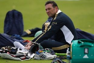 Jacques Kallis takes a break during South Africa practice, Canterbury, July 12, 2012
