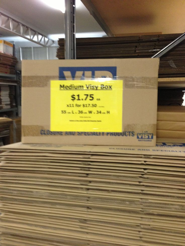 Buy packing cartons or moving boxes the same size and shape to make stacking easier. These are great for $1.75 each.