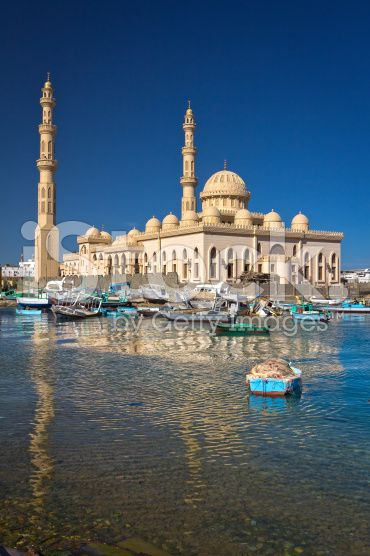 Mosque in Hurghada, Egypt royalty-free stock photo