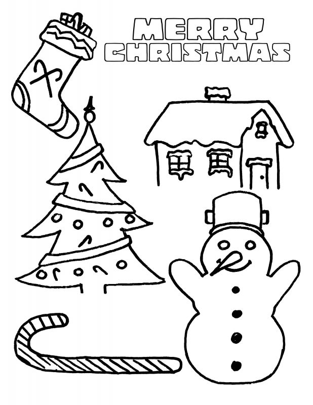Christmas Printable Coloring Pages Merry School Page 1aa