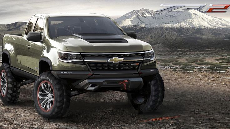 Chevrolet Colorado ZR2 Concept.. They stuck a diesel in this sucker making something like 386 foot ponds of torque (don't quote me on that but I know it's in that area) crazy right!?!?