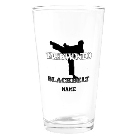 TaeKwonDo Black Belt Drinking Glass - need to order for the boys