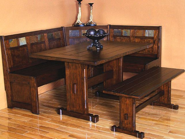 Rustic Corner Dining Room Table Sets
