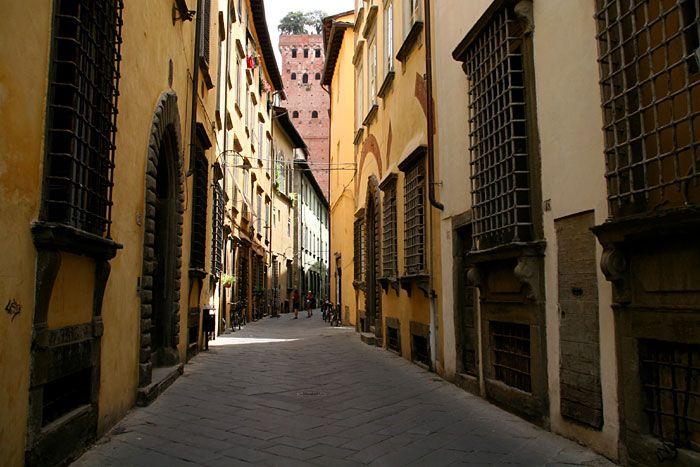 Lucca street, Tuscany, Italy