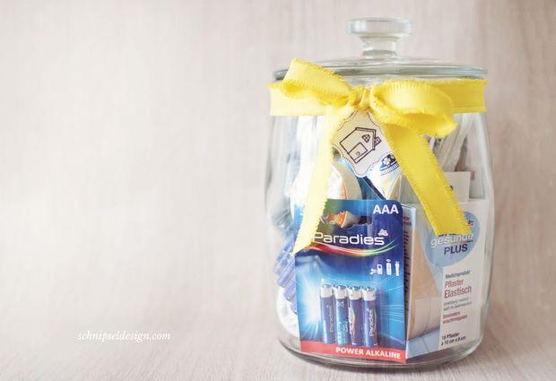 Einweihungsgeschenk Housewarming Jar #schnipseldesign
