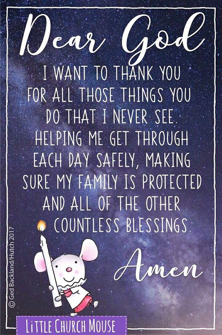 Amen! Thank You, Jesus, for all those little everyday blessings!