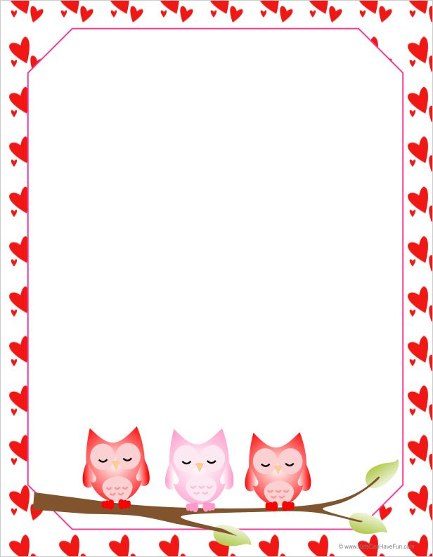 CH.B *✿*Valentine's Owls Letter Paper