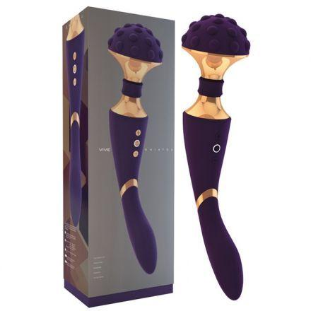 VIBROMASSEUR RECHARGEABLE SHIATSU MAUVE. Offert par la boutique érotique (sex shop) La Clé du Plaisir.