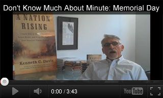 Educational Video: Don't Know Much About Minute: Memorial Day http://www.teachervision.fen.com/memorial-day/video/73217.html Author Kenneth C. Davis shares the forgotten history of Memorial Day. Students will learn how red poppies became associated with this somber day. It's paired with three classroom activities for grades 9-12.