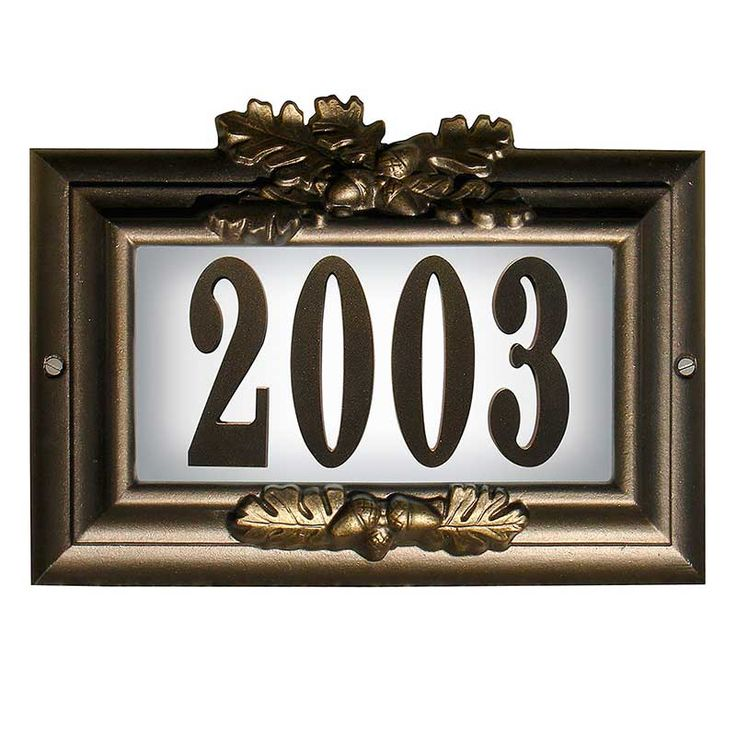 Lighted Address Sign Part - 30: Misty Oak Personalized Lighted Home Address Plaque