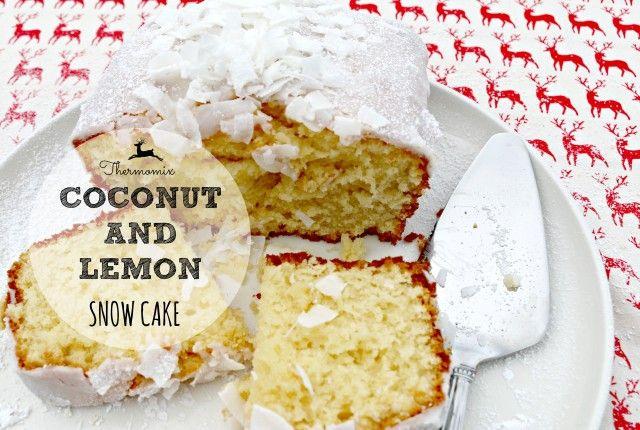 coconut and lemon snow cake