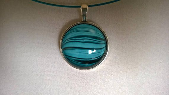 Mother's day gift Glass cabochon necklace women gift