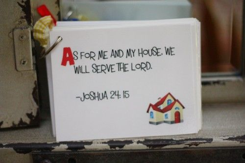 ABC printable Scripture Memory cards for Kids.