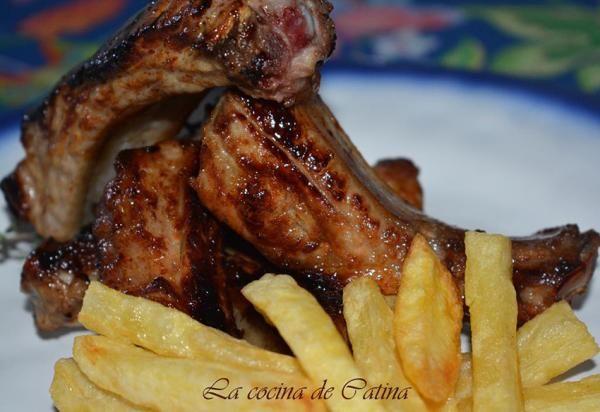 Receta de Costillas de cerdo a la miel y mostaza - ¡En tan solo 3 pasos! #RecetasGratis #RecetasFáciles #RecetasdeCocina #Carne #MeatLovers