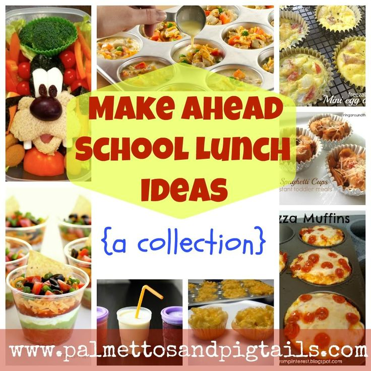 School Lunch Ideas - Palmettos and Pigtails