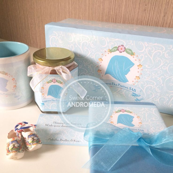 Baby blue sweet package for hampers gift