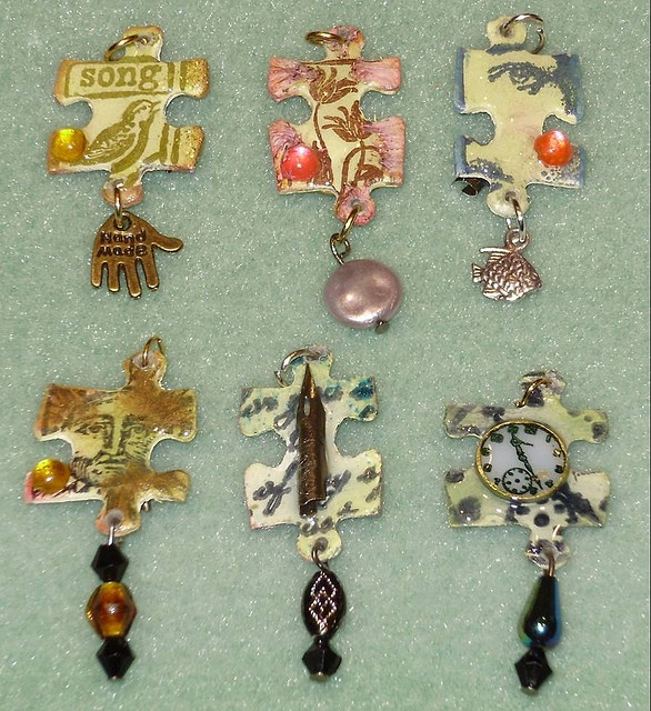 Jigsaw Charms. Thank you. Now I have something to do with all those colorful puzzles I have.