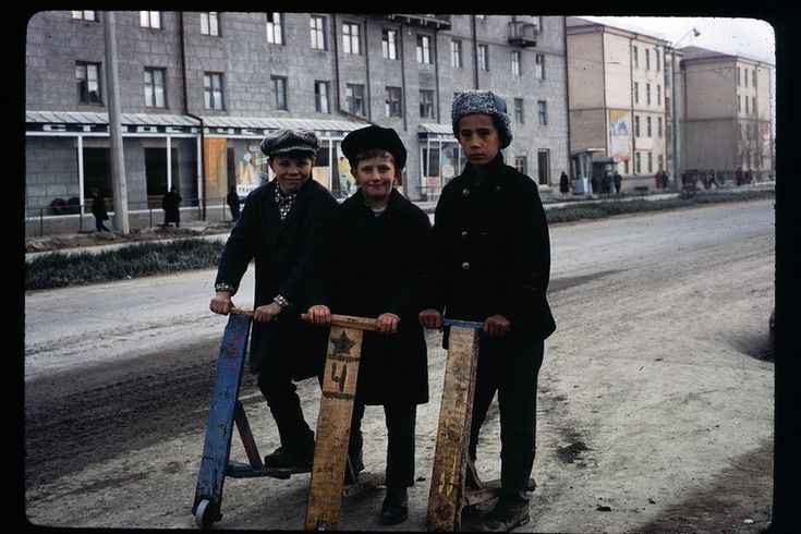 Юные москвичи на самокатах, 1966 год - Тогда